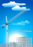 建筑用起重机 向量例证