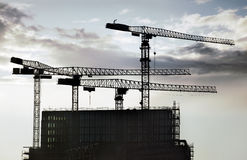 建筑用起重机 库存图片
