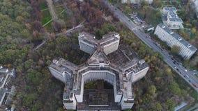 建筑的看法从高度的 股票视频