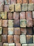 建筑目的手工制造黏土砖 免版税库存照片