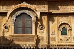建筑细节在Jaisalmer Mandir宫殿  免版税库存图片