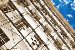 建筑绞刑台工作工作 免版税库存照片