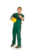 建筑绿色工作者 免版税库存照片
