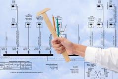 建筑能源新技术 免版税库存图片