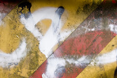 建筑脏的生锈的符号站点 图库摄影