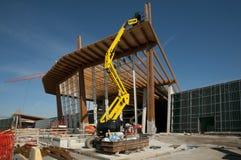 建筑被胶合的被碾压的站点木材 免版税库存照片