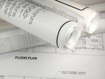 建筑计划 免版税库存照片