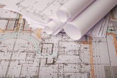 建筑计划 库存图片