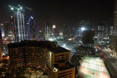 建筑迪拜头等江边区域 库存照片