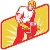 建筑钻锤子插孔工作者 免版税库存图片