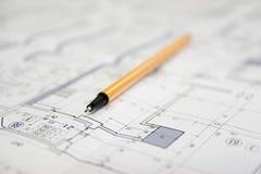 建筑项目宏指令 免版税图库摄影