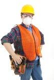 建筑齿轮安全性工作者 库存图片