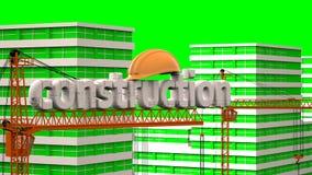 建筑,住宅microdistrict的建筑的元素在云彩时间间隔的背景中, 股票视频