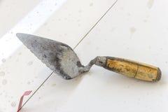 建筑granito铺磁砖工建造者 库存图片