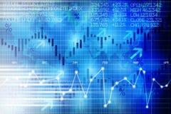 建议抽象证券交易所数字显示的盘区份额的金融市场演变 向量例证