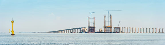 建设中的桥梁 库存图片
