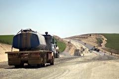 建设中的高速公路 库存图片