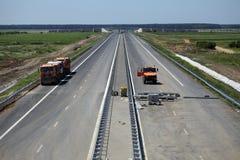 建设中的高速公路 免版税库存图片