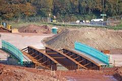 建设中路的桥梁 免版税库存照片