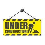 建设中,简单的传染媒介标志 免版税库存图片