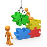 建设性的小组 向量例证