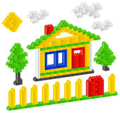 建设者房子 库存照片