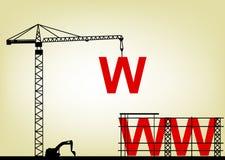 建造场所万维网 免版税库存照片