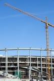 建造场所体育场 免版税库存照片