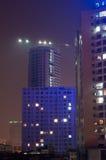 建造场所在晚上 库存照片