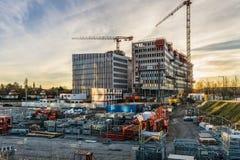 建造场所在Wacken区,史特拉斯堡 库存照片