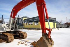 建造场所拖拉机 免版税图库摄影