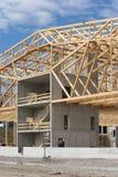 建造场所木材工作 免版税库存图片