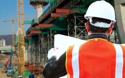 建造场所检查员 免版税库存图片