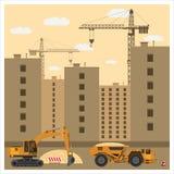 建造场所用设备 免版税库存图片