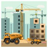 建造场所用设备 免版税库存照片