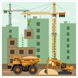 建造场所用设备 库存图片