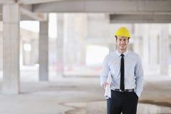 建造场所的建筑师 免版税库存图片