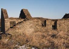 建造的不用灰泥只用石块构造的房子 图库摄影