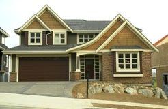 建造的自定义前家庭房子 免版税库存照片