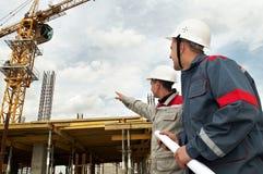 建造者建筑工程师 免版税库存照片