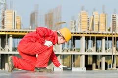 建造者数字式级别 免版税库存照片