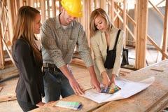 建造者设计员回家 免版税库存照片