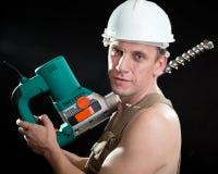 建造者锤子专业人员穿孔机 免版税库存图片