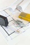 建造计划 免版税库存照片