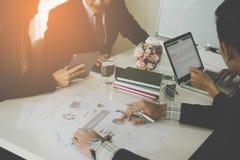 开业务管理的队会议 图库摄影