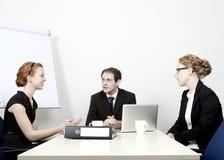 开企业的小组会议 免版税库存照片