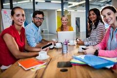 开偶然企业的队会议 免版税库存照片