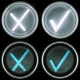 开关控制或按钮的汇集:接受并且取消 库存例证
