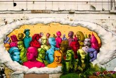 开化都市节日的街道画 库存图片
