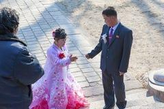 开城城6月博物馆,北朝鲜婚礼  免版税库存图片